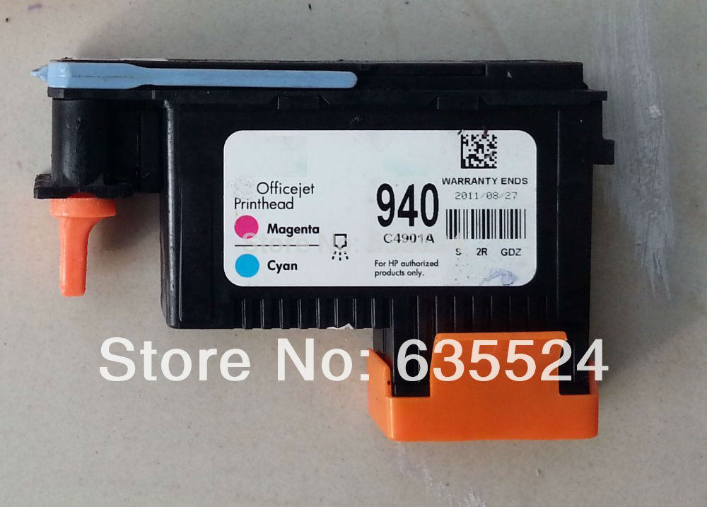 940 MAGENTA / CYAN PRINTHEAD C4901A hp OfficeJet Pro 8500 8000