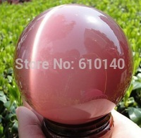 AAA+++ Hot Parduoti AZIJOS KVARCO PINK CAT EYE CRYSTAL BALL SFEROJE 60MM + STOVAS