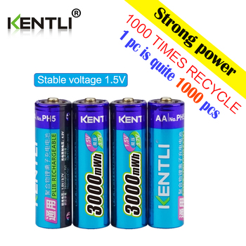 KENTLI multifunction power bank multifunction charger + 4 pcs 1.5v 3000mWh lithium li-ion AA rechargeable battery
