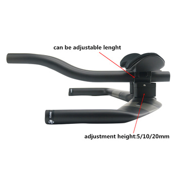 RXL SL Cycling Handlebar Road Bicycle Triathlon Handlebars UD Matte 400/420/440mm Carbon Extender Rest TT Bullhorn
