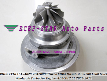 Turbo CHRA Cartridge Core RHF4 VT10 1515A029 VB420088 For Mitsubishi W200 L200 Pickup 2005- Di-D 4WD 4D5CDI 2.5L 2.5TD