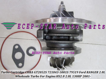 Turbokompresoriaus Turbo Cartridge CHRA Core GT2052S 721843-0001 721843-5001S 721843 79519