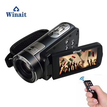 Winait full hd 1080p digital video camera with 10x optical zoom Smile Capture Anti-shake Built-in LED Light